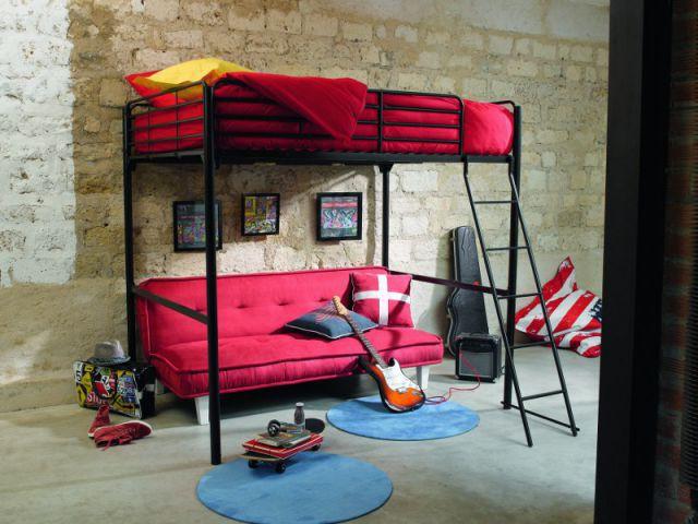 Un lit mezzanine pour gagner de la place - Aménagements créatifs et pratiques pour hommes