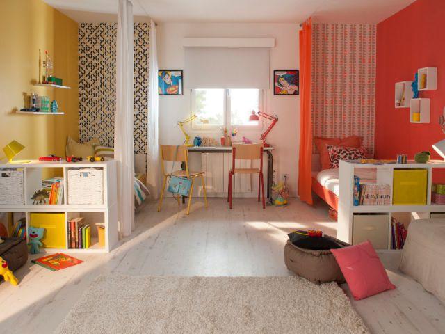 Un espace organisé pour une fratrie  - Chambre d'enfant