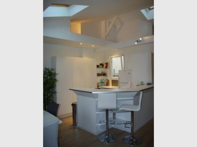 Une cuisine compacte et ingénieuse - Rénovation d'un trois pièces dans le 15ème arrt de Paris