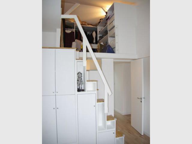 Des mezzanines optimisées - Rénovation d'un trois pièces dans le 15ème arrt de Paris