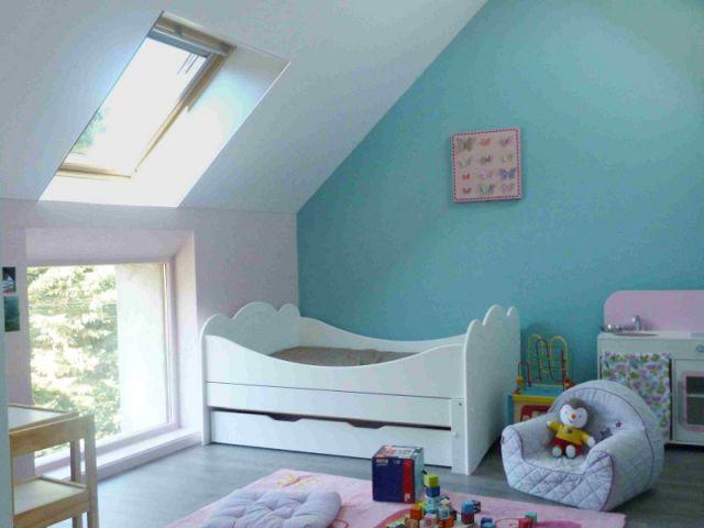 un grenier transform en chambre pour enfants