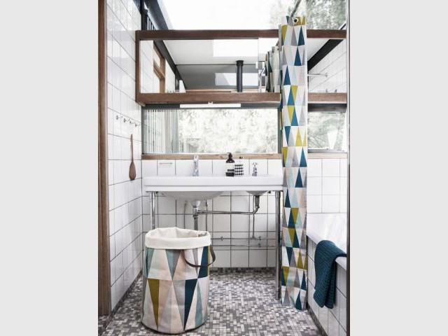 Des accessoires assortis pour une salle de bains plus chaleureuse - Salle de bain à petit prix