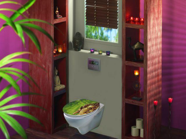 Un abattant de toilettes en 3 D pour une salle de bains moderne - Salle de bain à petit prix