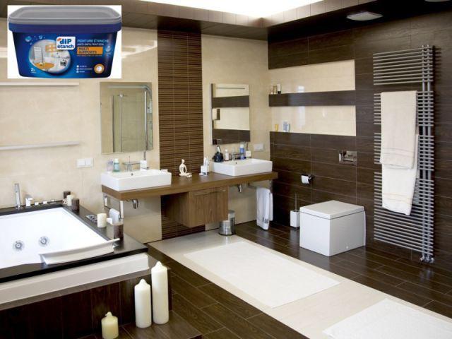 Une peinture étanche pour repeindre tous les supports - Salle de bain à petit prix
