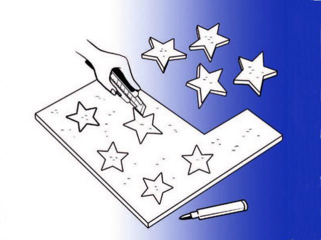 Bricoler avec les enfants : découper les étoiles... - Manuel des petits et grands décorateurs, Editions Eyrolles