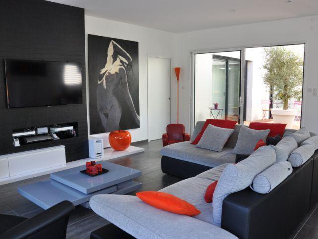 Un séjour bioclimatique lumineux - Maison contemporaine à Mâcon