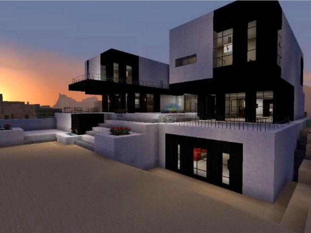 Modern design house - Minecraft, le jeu vidéo de construction