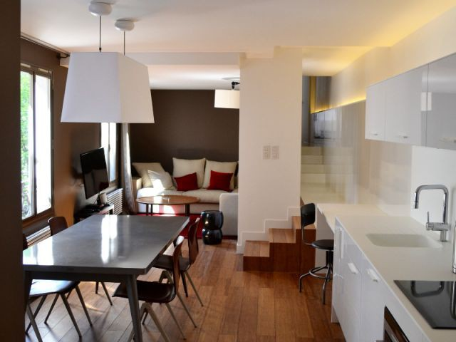 1 appartement remis en lumi re par 1 d cloisonnement. Black Bedroom Furniture Sets. Home Design Ideas