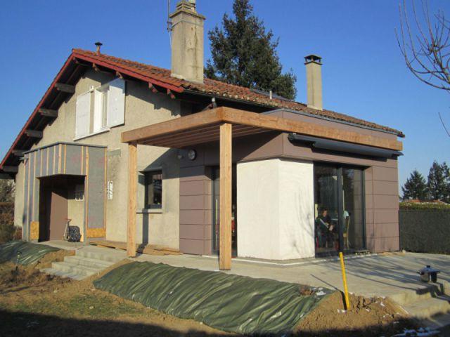 2 extensions en bois pour une maison plus fonctionnelle for Fiche technique construction maison