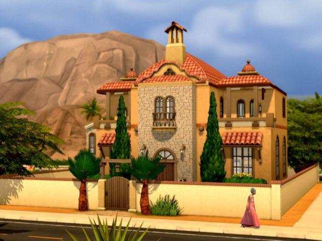 Les Sims 4 : une maison façon hacienda - Maison conçue dans le jeu Les Sims 4