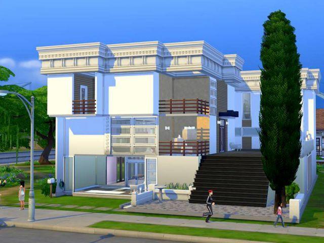 Les Sims 4 : une maison qui défie les lois de la gravité - Maison conçue dans le jeu Les Sims 4