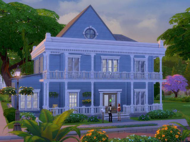 Les Sims 4 : un pavillon de banlieue américaine - Maison conçue dans le jeu Les Sims 4