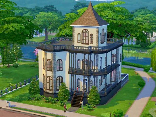 Les Sims 4 : une maison aux accents gothiques - Maison conçue dans le jeu Les Sims 4