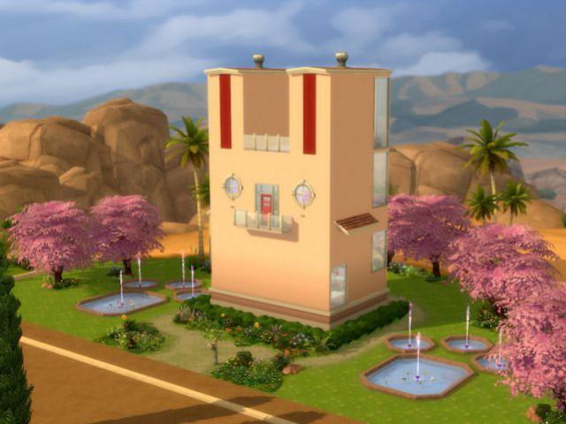 Les Sims 4 : une maison en forme de lapin - Maison conçue dans le jeu Les Sims 4