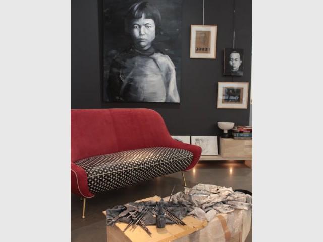 Une galerie d'art transformée en atelier de peintre - Femmes de design