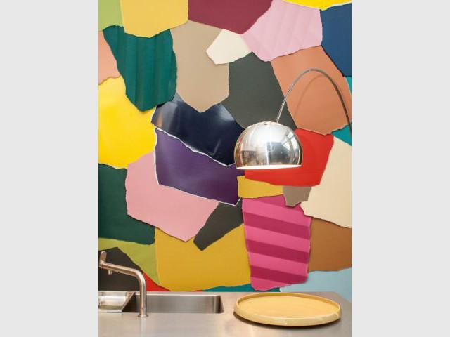 Des cuisines design décorées d'un puzzle coloré - Femmes de design