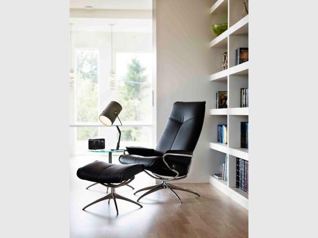 Un fauteuil cuir pour des moments agréables de lecture - Dix fauteuils pour embellir son salon