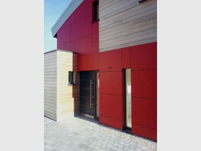 Contrastes en façade - Maison passive - Samuel Juzac