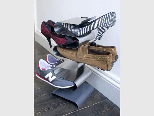 comment ranger ses chaussures dans un placard excellent rangement vtement rendezles accessibles. Black Bedroom Furniture Sets. Home Design Ideas
