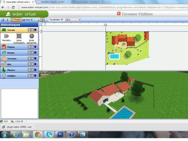 Un outil 3D pour créer son jardin  - Les outils 3d pour concevoir sa maison