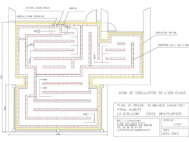 Labyrinthe - Plancher chauffant air circulant