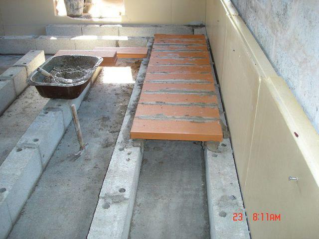 Pose du plancher - PLancher chauffant air circulant