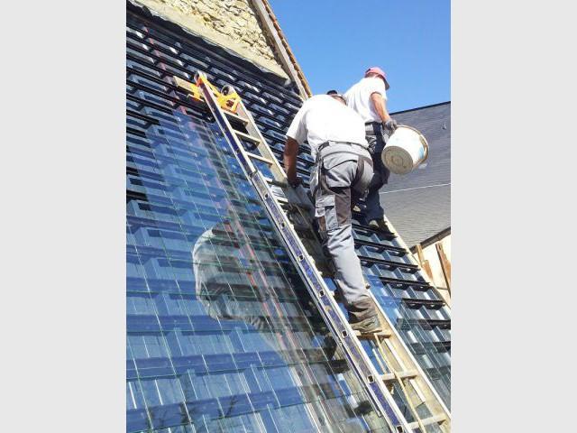 Toiture solaire - Plancher chauffant air circulant
