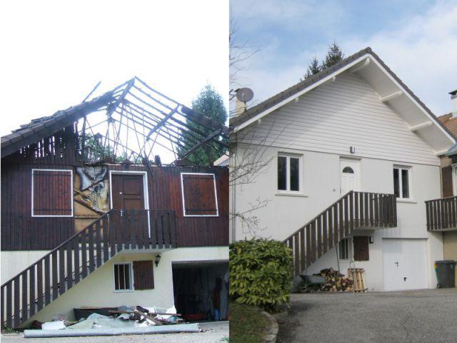 Reconstruction totale d'une maison incendiée