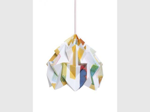 Une suspension origami - Luminaires à moins de 100 euros