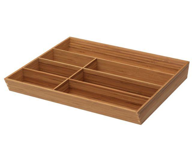 Un range-couverts bois aux multiples compartiments - Dix solution de rangement pour sa vaisselle