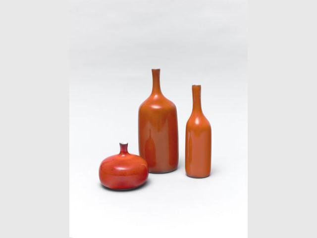 Bouteilles et vase aplati - Jacques et Dani Ruelland, l'amour de la céramique