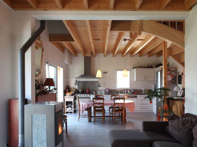 Uns structure à ossature bois - Maison Vannes - Patrice Bideau
