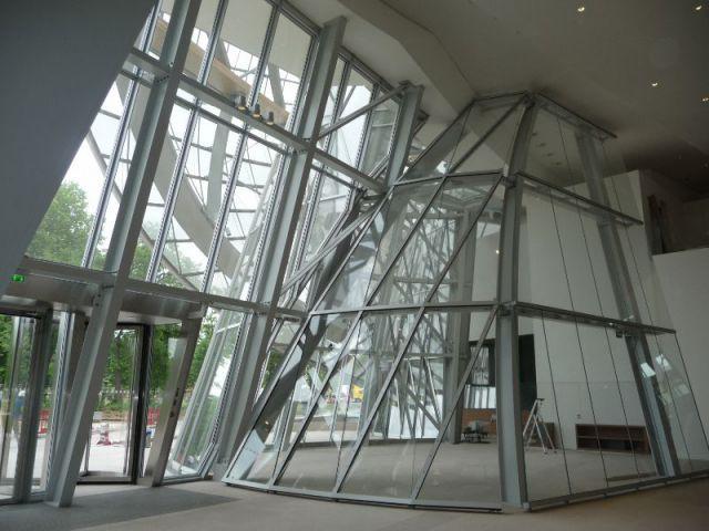 Structure acier pour l'entrée - Fondation Louis Vuitton