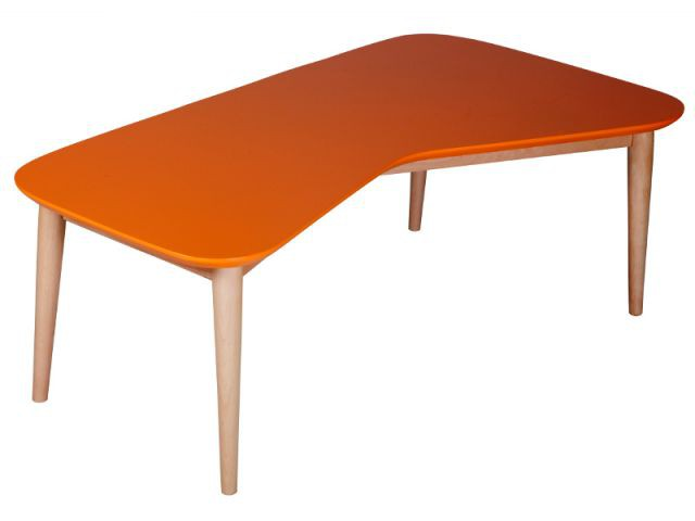 Une table orange aux accents fifties - Autour de la couleur orange