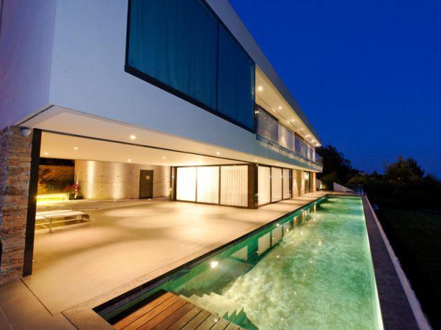 Piscine de nuit en  - Trophées de la piscine 2014