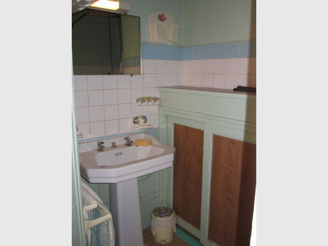 Une ancienne salle de bains vieillissante  - Rénovation appratement canut