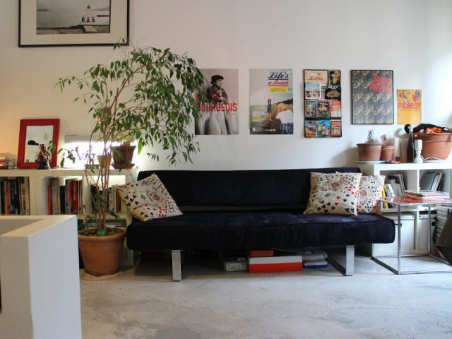 Un salon cosy et modulable - Rénovation appratement canut