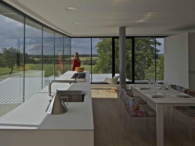 Une vue à 360° sur la campagne environnante - Maison aluminium