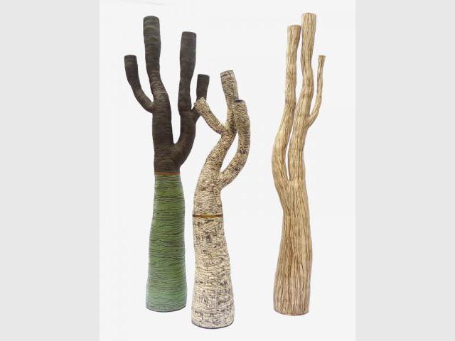 Sculpture en forme d'arbre