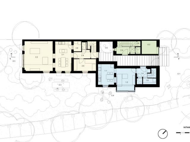 Trois logements dans une seule et même maison - Maison noire en Belgique
