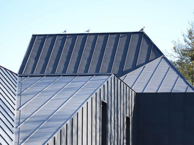 Le zinc pour faire fusionner toiture et façade - Maison noire en Belgique