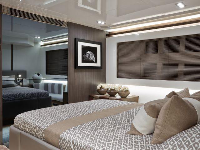 Mélanges de matières dans les chambres - Yacht Pearl 65
