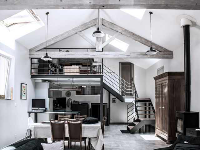Reconversion d'une ancienne papeterie en loft contemporain