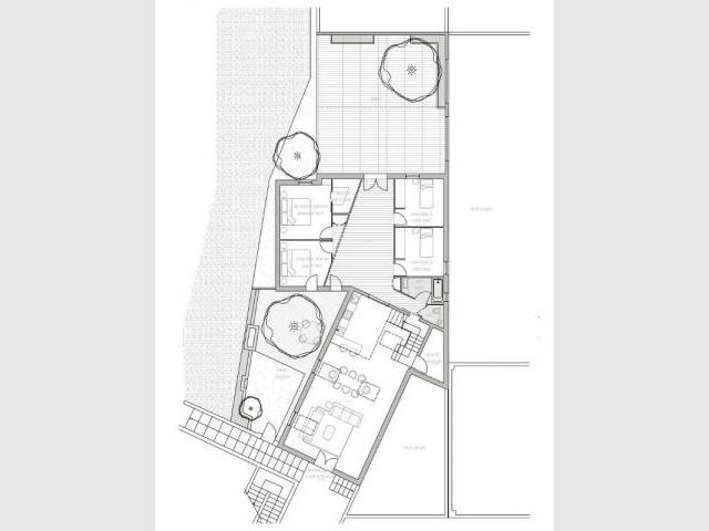 Un loft qui a conservé le découpage existant des espaces - Reconversion d'une ancienne papeterie en loft contemporain
