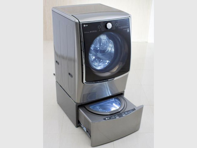 Un lave-linge double lavage