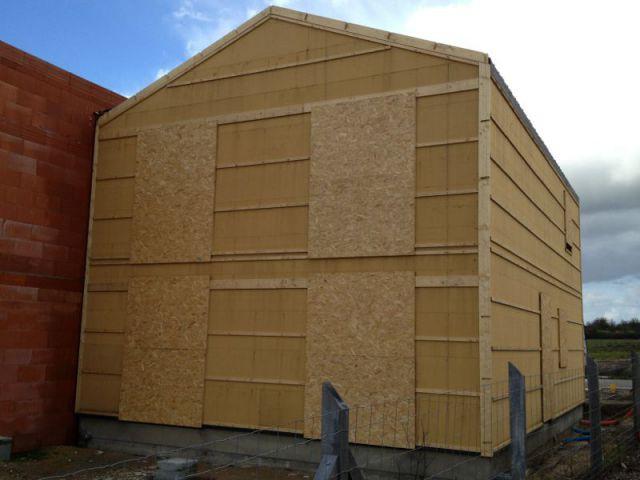 Une façade Nord aveugle - Maison Logémaine Angers