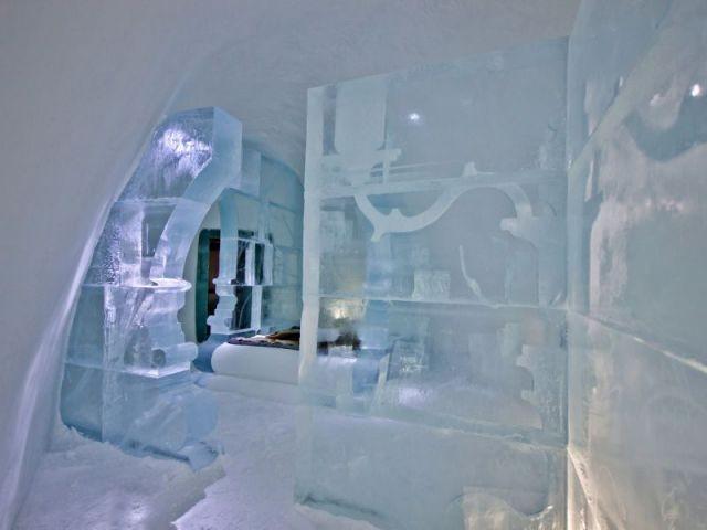 Une suite luxueuse au cœur de la glace - Hôtel de glace suite Rococo