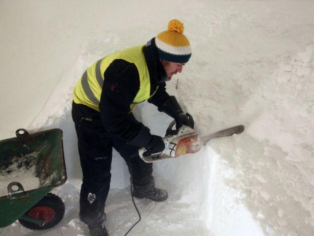 L'utilisation de matériaux naturels - Hôtel de glace suite Rococo