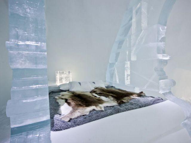 Un univers s'inspirant du style baroque - Hôtel de glace suite Rococo