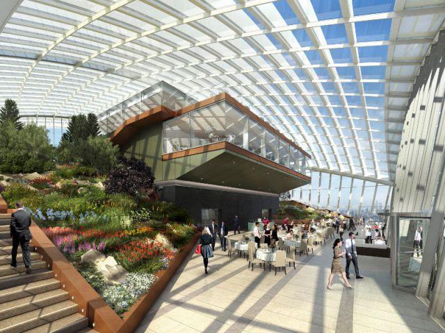 """Un jardin en haut d'une tour - Inauguration du """"Sky Garden"""" à Londres"""